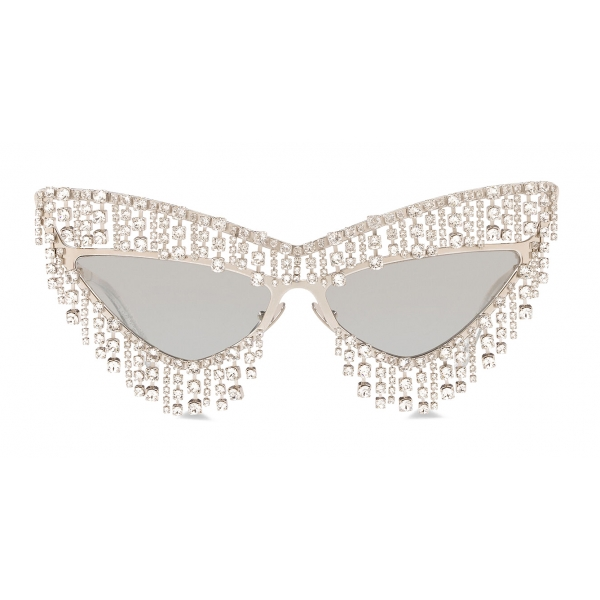 Dolce & Gabbana - Crystals' Rain Sunglasses - Silver - Dolce & Gabbana Eyewear