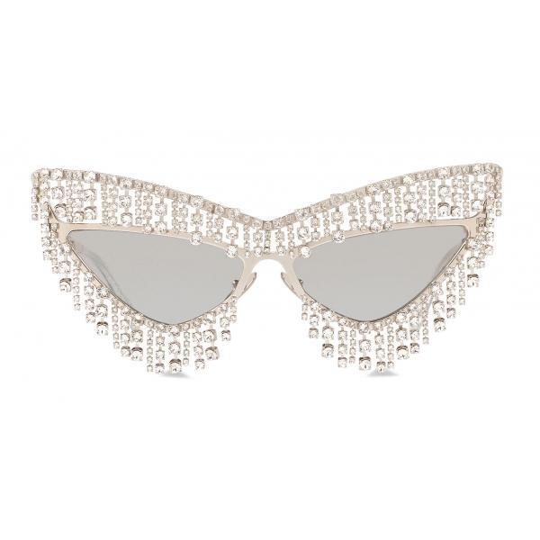 Dolce & Gabbana - Occhiale da Sole Crystals' Rain - Argento - Dolce & Gabbana Eyewear