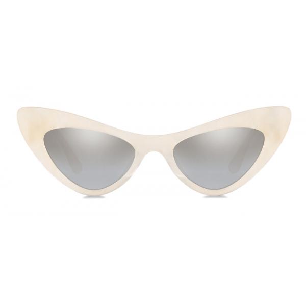 Dolce & Gabbana - Devotion Sunglasses - White - Dolce & Gabbana Eyewear