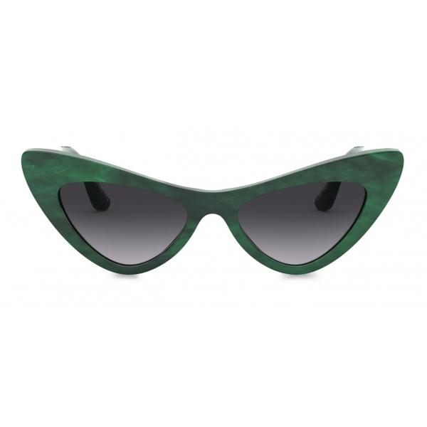 Dolce & Gabbana - Devotion Sunglasses - Green - Dolce & Gabbana Eyewear