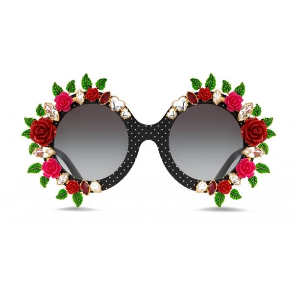 Dolce & Gabbana - Crazy For Sicily Sunglasses - Black - Dolce & Gabbana Eyewear