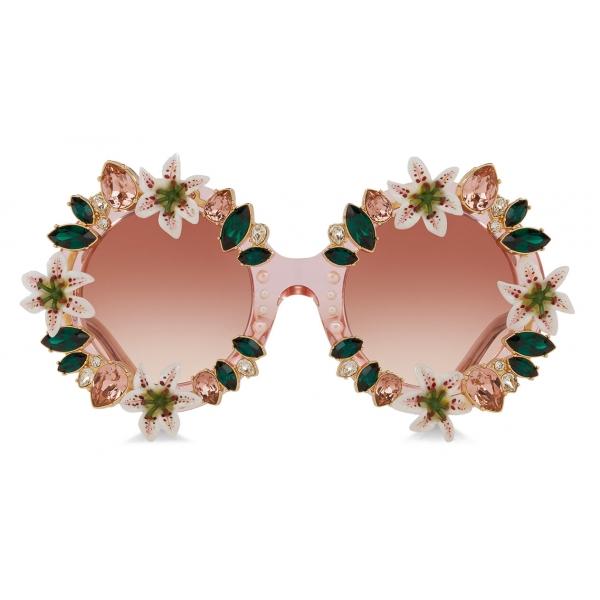 Dolce & Gabbana - Lilium Sunglasses - Pink - Dolce & Gabbana Eyewear