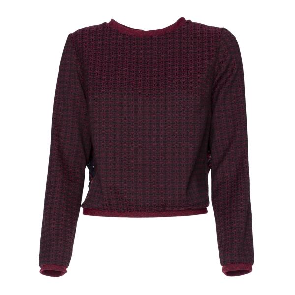 Leda Di Marti - Jacquard Sweatshirt - Leda Collection - Haute Couture Made in Italy - Luxury High Quality Sweatshirt