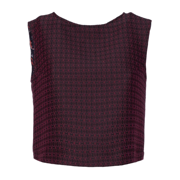 Leda Di Marti - Sleeveless Jacquard Top - Leda Collection - Haute Couture Made in Italy - Luxury High Quality Top