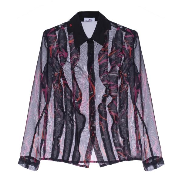 Leda Di Marti - Camicia in Chiffon - Leda Collection - Haute Couture Made in Italy - Camicia di Alta Qualità Luxury