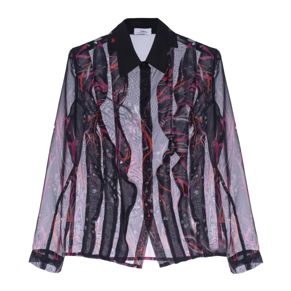 Leda Di Marti - Chiffon Shirt - Leda Collection - Haute Couture Made in Italy - Luxury High Quality Shirt