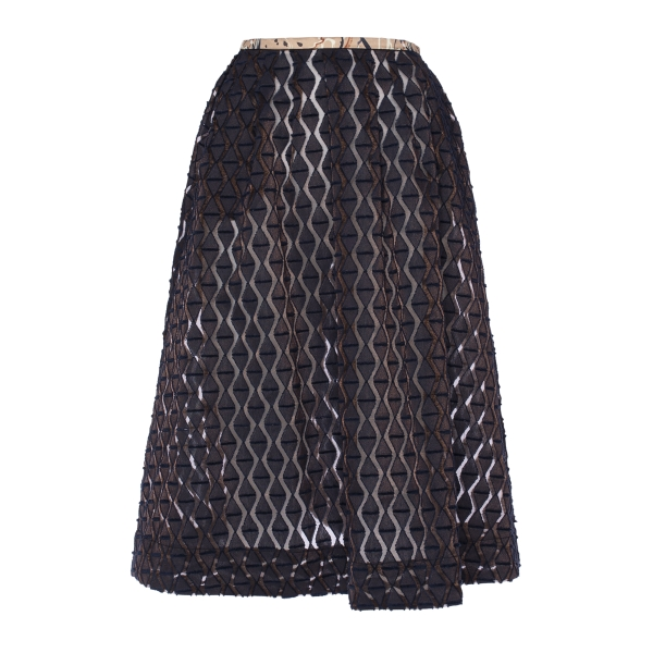 Leda Di Marti - Midi Fenis - Length Skirt Jacquard - Leda Collection - Haute Couture Made in Italy - Luxury High Quality Skirt