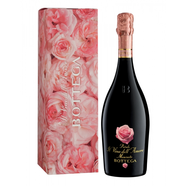Bottega - Love - Petalo Amore Moscato Sweet Spumante D.O.C. - Box - Rose Love Edition - Luxury Limited Edition Sparkling Wine