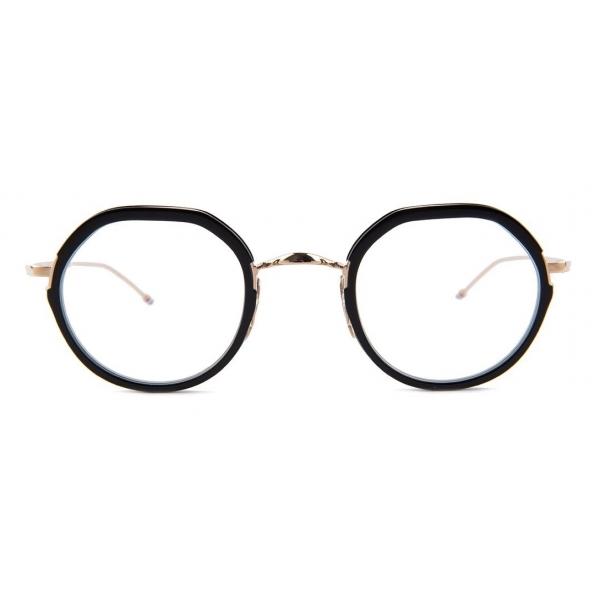 Thom Browne - Occhiali con Cornice a Contrasto Rotonda - Thom Browne Eyewear