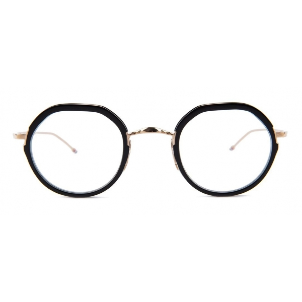 Thom Browne - Round Contrast-Trim Glasses - Thom Browne Eyewear