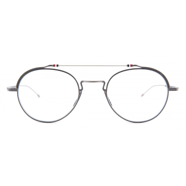 Thom Browne - Black Iron & Silver Glasses - Thom Browne Eyewear