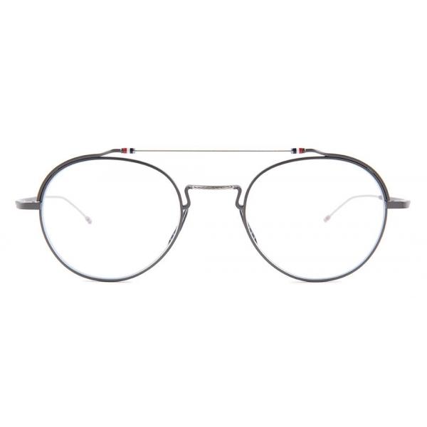 Thom Browne - Occhiali in Metallo Nero e Argento - Thom Browne Eyewear