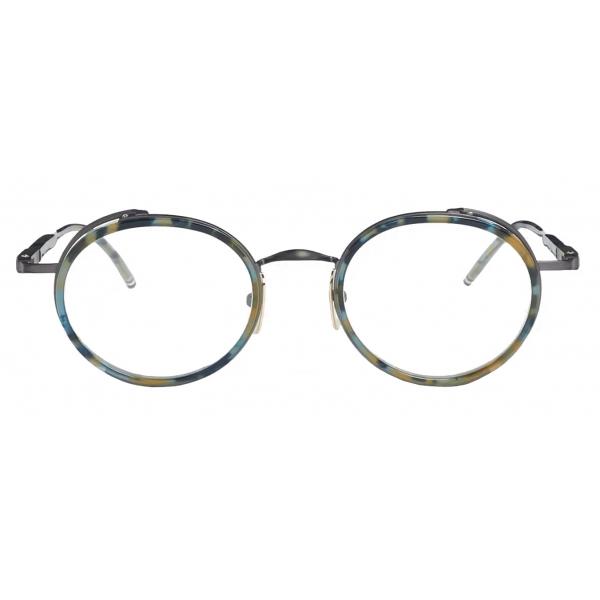 Thom Browne - Occhiali da Sole con Montatura Rotonda - Navy - Thom Browne Eyewear