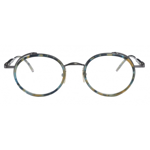 Thom Browne - Tortoise Round Sunglasses - Navy - Thom Browne Eyewear