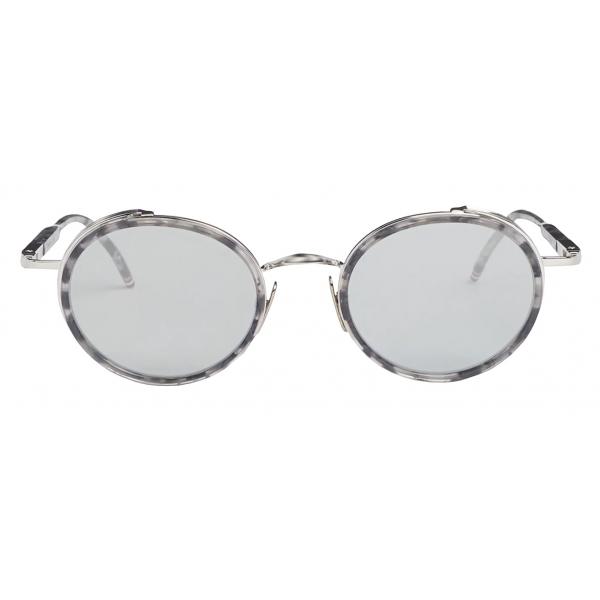 Thom Browne - Occhiali da Sole Rotondi Tartaruga - Blu Scuro - Thom Browne Eyewear
