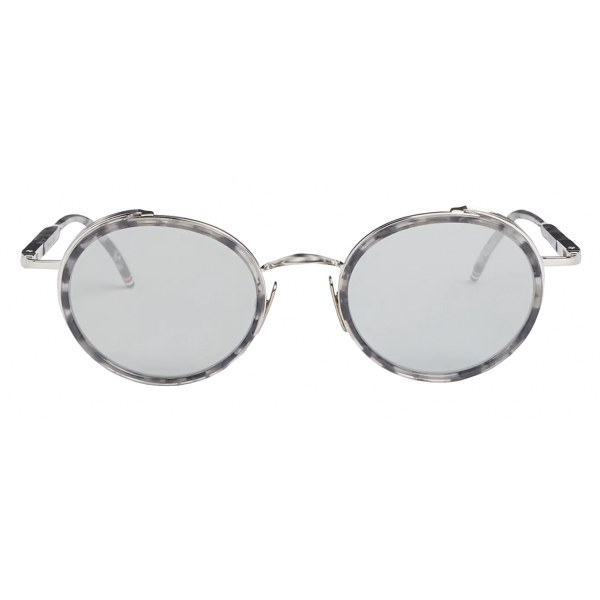 Thom Browne - Tortoise Round Sunglasses Dark Blue - Thom Browne Eyewear