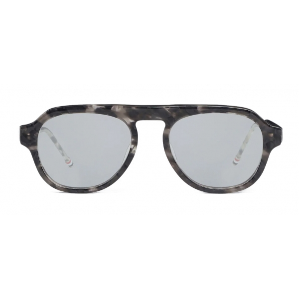 Thom Browne - Grey Tortoise Sunglasses - Thom Browne Eyewear