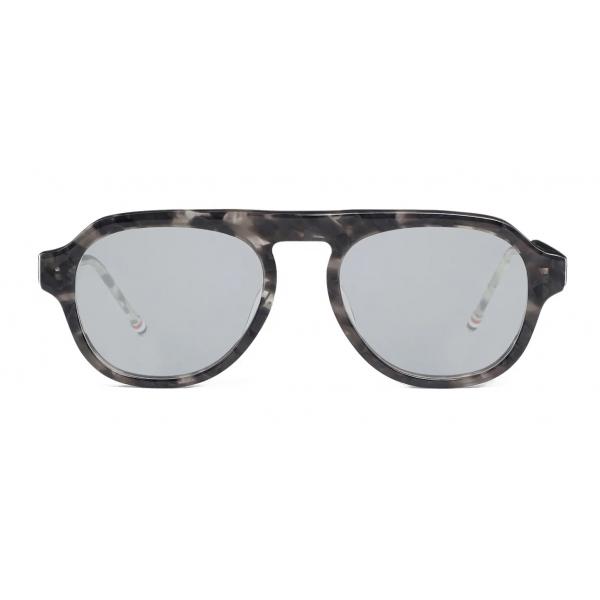 Thom Browne - Occhiali da Sole Tartarugati Grigi - Thom Browne Eyewear