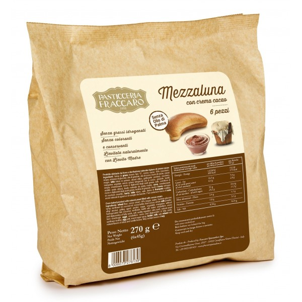 Pasticceria Fraccaro - Gondoeta - Mezzaluna con Crema Cacao - Fraccaro Spumadoro