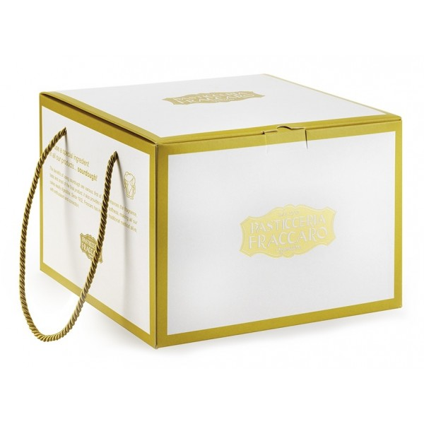 Pasticceria Fraccaro - Gold Box Line - Panettone with Nougat Chips in the Dough - Artisan Panettone - Fraccaro Spumadoro