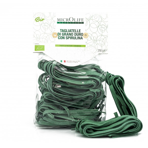 Microlife - Organic Pasta - Durum Wheat Tagliatelle with Spirulina