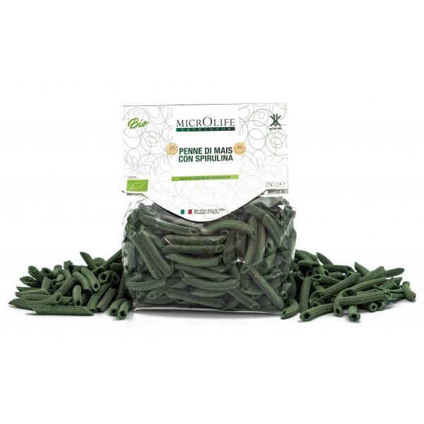 Microlife - Organic Pasta - Penne of Corn with Spirulina - Gluten Free