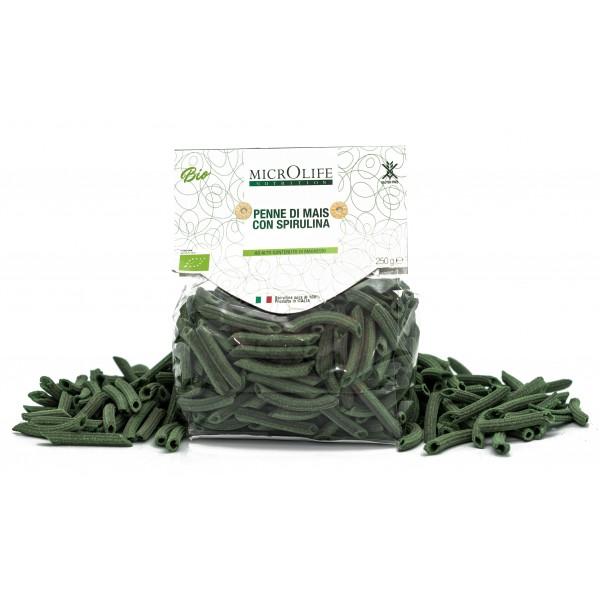 Microlife - Pasta Bio - Penne di Mais con Spirulina - Senza Glutine