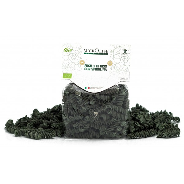 Microlife - Organic Pasta - Fusilli of Rice with Spirulina - Gluten Free