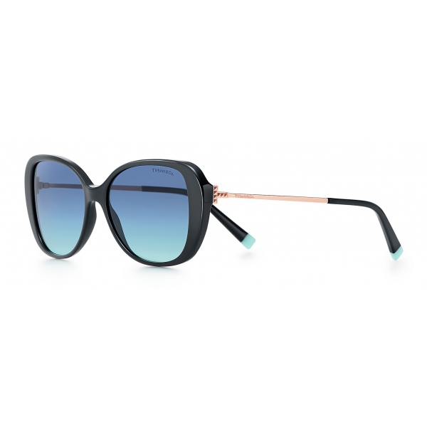 Tiffany & Co. - Butterfly Sunglasses - Black Rose Gold Blue - Tiffany T Collection - Tiffany & Co. Eyewear
