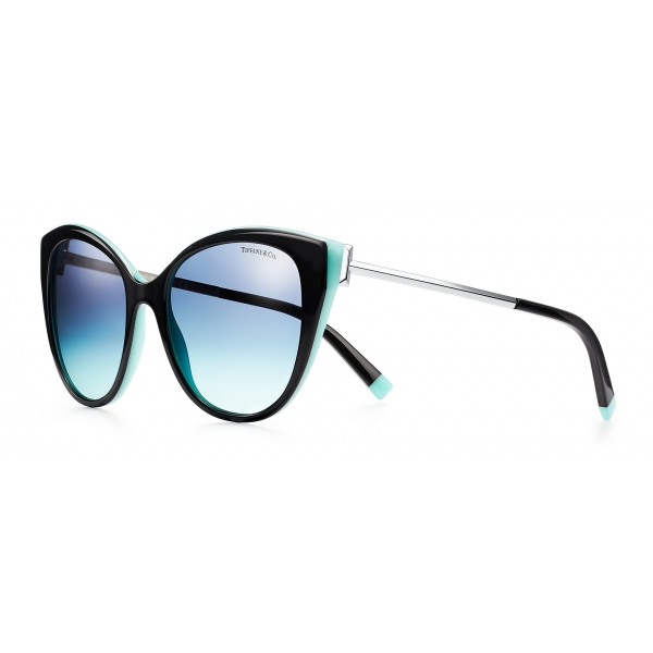 Tiffany & Co. - Occhiale da Sole Cat Eye - Nero Blu - Collezione Tiffany T - Tiffany & Co. Eyewear