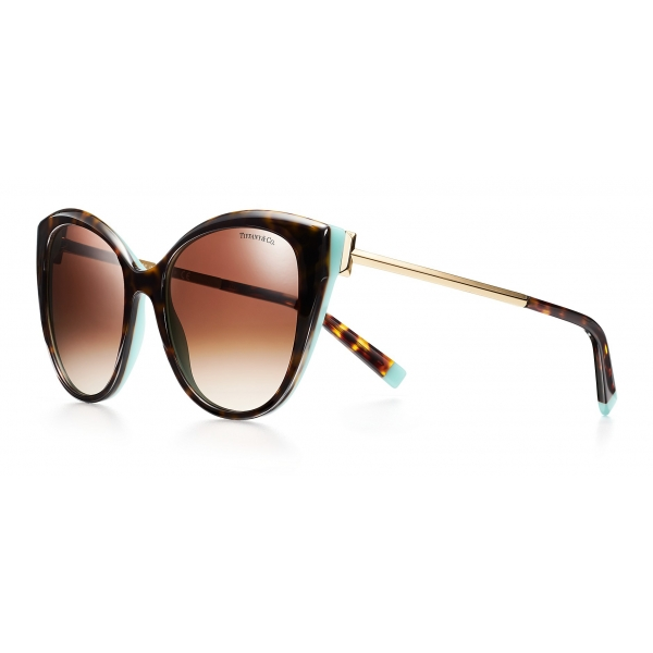 Tiffany & Co. - Occhiale da Sole Cat Eye - Tartaruga Blu - Collezione Tiffany T - Tiffany & Co. Eyewear