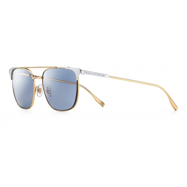 Tiffany & Co. - Occhiale da Sole Makers - Oro Argento Nero - Collezione Tiffany T - Tiffany & Co. Eyewear