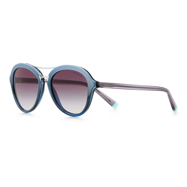 Tiffany & Co. - Occhiale da Sole Pilot - Blu Grigio - Collezione Tiffany T - Tiffany & Co. Eyewear