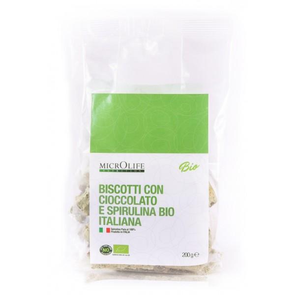 Microlife - Dolci Bio - Biscotti con Cioccolato e Spirulina Bio Italiana