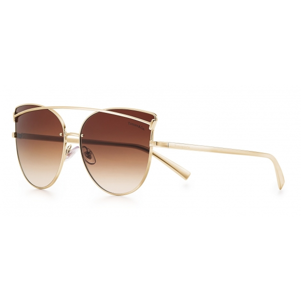 Tiffany & Co. - Cat Eye Sunglasses - Pale Gold Brown - Tiffany T Collection - Tiffany & Co. Eyewear