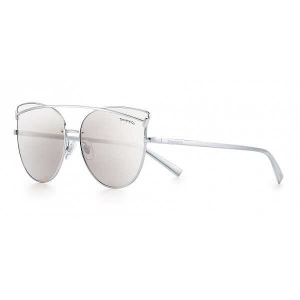 Tiffany & Co. - Cat Eye Sunglasses - Silver - Tiffany T Collection - Tiffany & Co. Eyewear