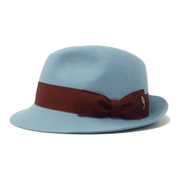 Doria 1905 - Arsenio - Trilby Hat Lagoon Cinnamon - Accessories - Handmade Artisan Italian Cap