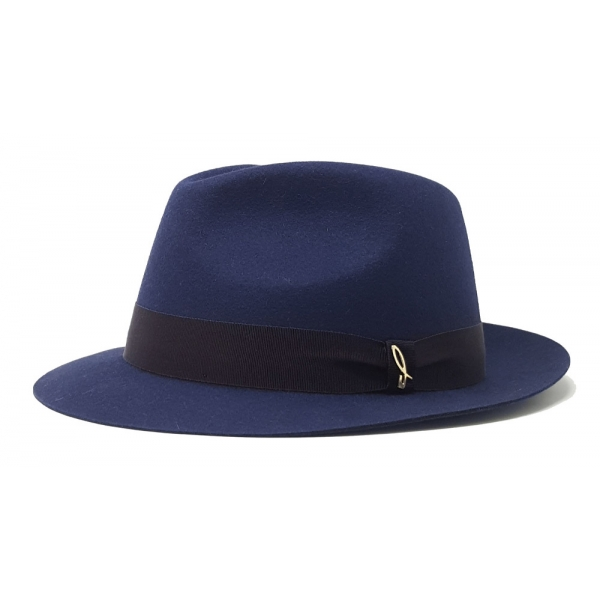 Doria 1905 - Droplet - Drop Hat Blue Negramaro Wine - Accessories - Handmade Artisan Italian Cap