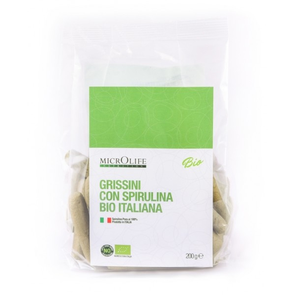 Microlife - Organic Salty - Organic Breadsticks with Italian Organic Spirulina