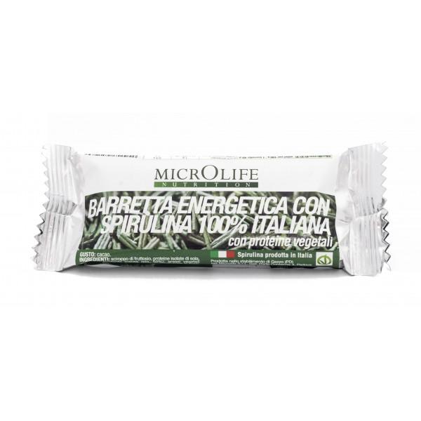 Microlife - Barrette Bio - Barretta Energetica Vegana con Spirulina Bio 100% Italiana
