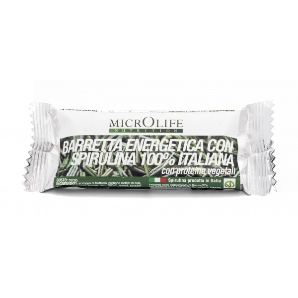 Microlife - Organic Bars - Vegan Energy Bar with 100% Italian Organic Spirulina
