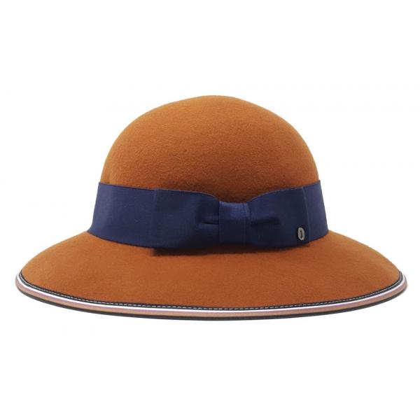 Doria 1905 - Isotta - Chapeline Reversible Pumpkin Black Saraceno - Accessories - Handmade Artisan Italian Cap