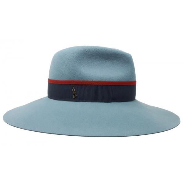Doria 1905 - Droplette - Drop Hat Lagoon Scarab Laque - Accessories - Handmade Artisan Italian Cap