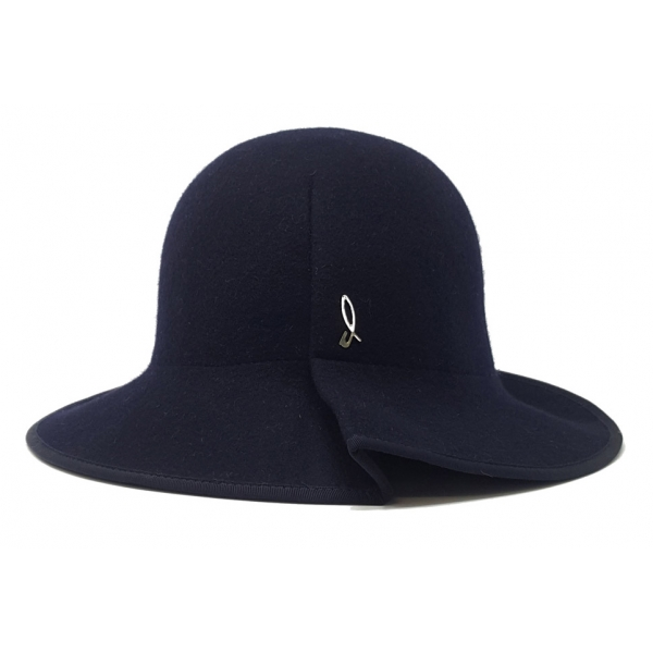 Doria 1905 - Azulina - Cloche Blu Abisso - Accessori - Cappello Artigianale Italiano