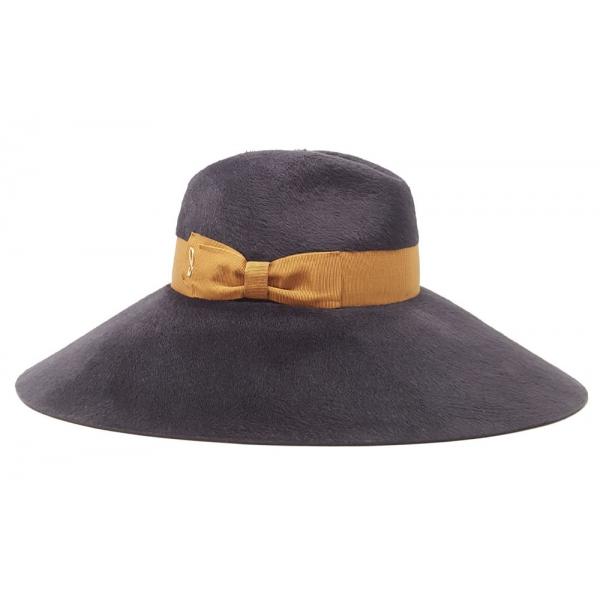 Doria 1905 - Katerina - Cappello Fedora Grafite Mou - Accessori - Cappello Artigianale Italiano