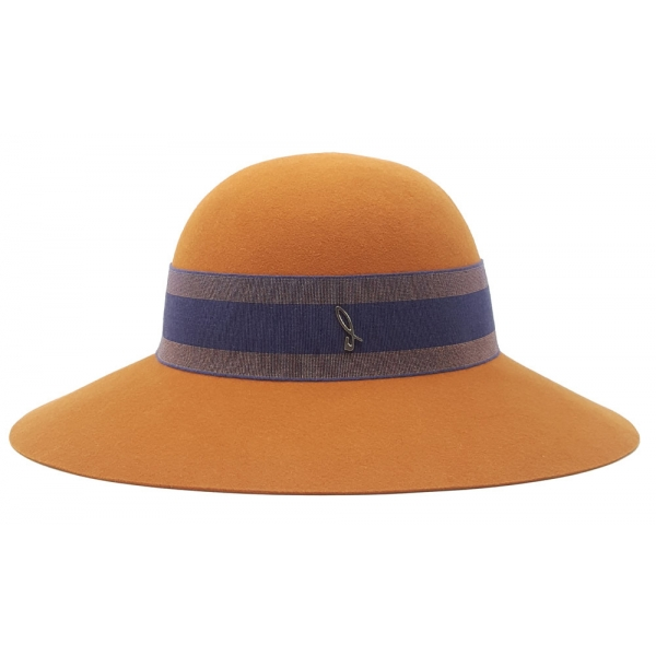 Doria 1905 - Margot - Chapeline Pumpkin Lapis Blue Copper - Accessories - Handmade Artisan Italian Cap