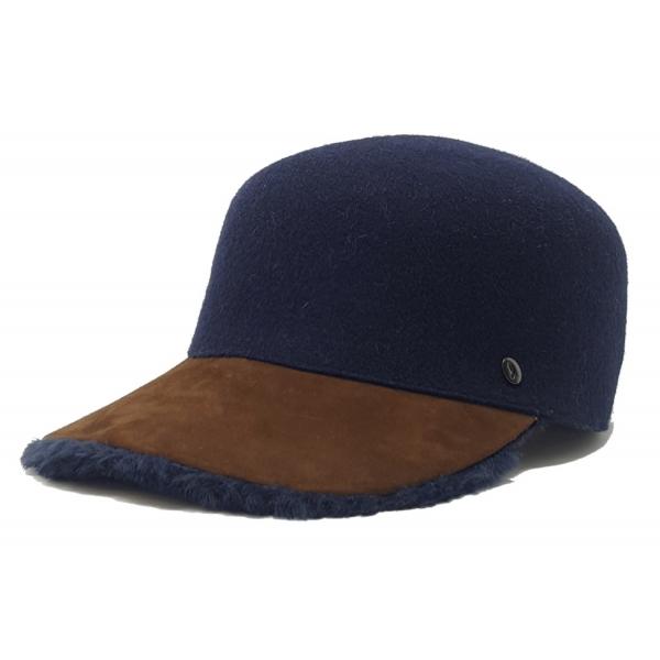 Doria 1905 - Pony - Baseball Blu Notte Cognac Blu - Accessori - Cappello Artigianale Italiano