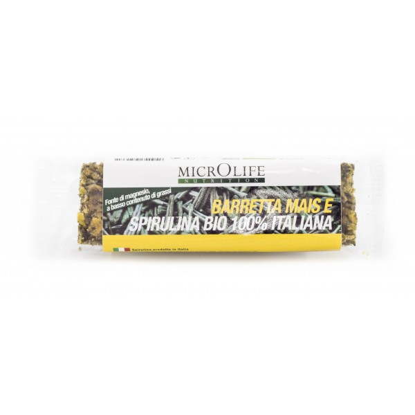 Microlife - Organic Bars - Energy Bar with Mais and 100% Italian Organic Spirulina