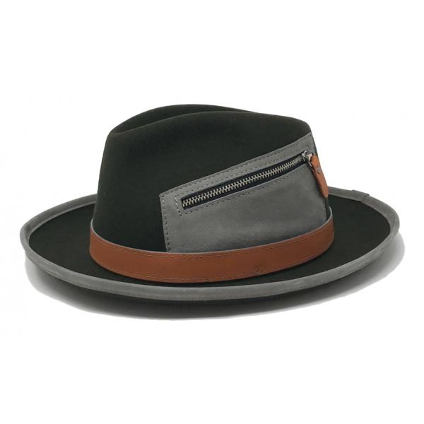 Doria 1905 - Cameron - Cappello a Goccia Bosco Arancio Grigio - Accessori - Cappello Artigianale Italiano