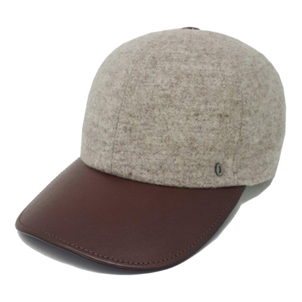Doria 1905 - Canvas - Baseball Natural Leather - Accessories - Handmade Artisan Italian Cap